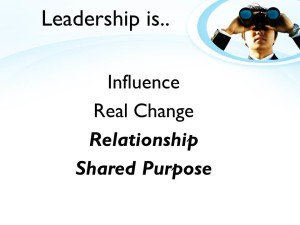 change requires leadership