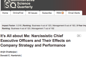 Is A Narcissistic Leader Good For Your Organization?