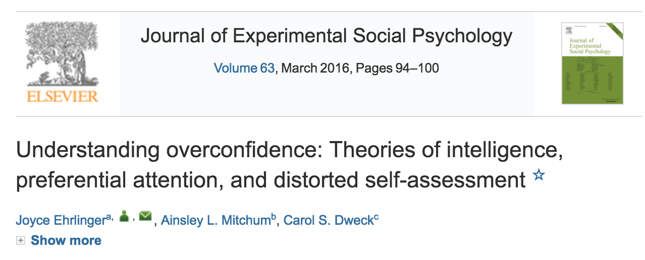overconfidence behaviour In this paper, it is argued that overconfidence is something that characterizes human behavior in most cases people tend to appreciate their knowledge highly even in.
